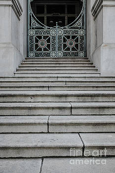 Edward Fielding - Staircase with metal gate Providence Rhode Island