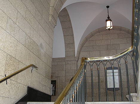 Stairs and Hallway in Canadian Parliament Building by Richard Mitchell
