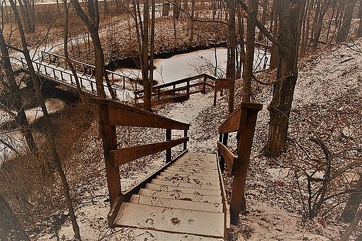 Stairs and Winter by Gerald Salamone