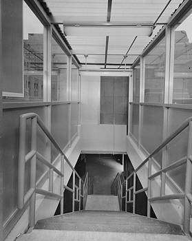 Chicago and North Western Historical Society - Stairs at Wendella Dock at Chicago Passenger Terminal - 1962
