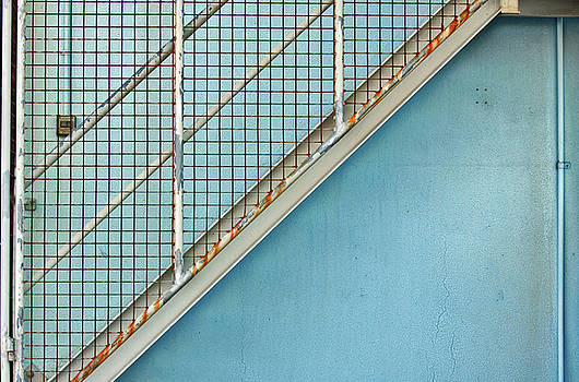Stephen Mitchell - Stairs on Blue Wall