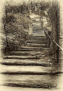 Steve Harrington - Stairway to Heaven - Sepia