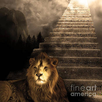 Wingsdomain Art and Photography - Stairway To Heaven v1 sepia square