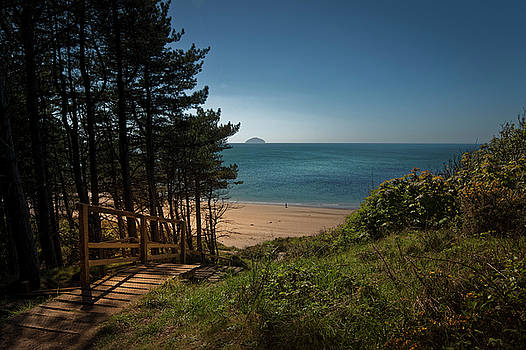 Stairway to the beach Culzean Castle 2 by Alex Saunders