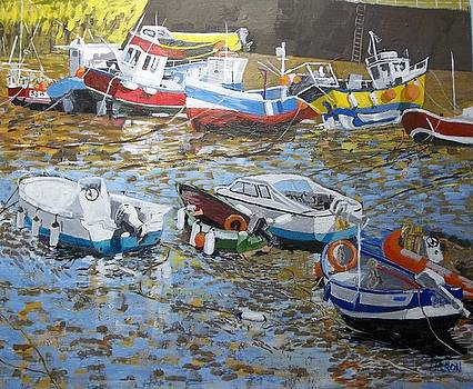 Staithes Harbour by Fred Urron