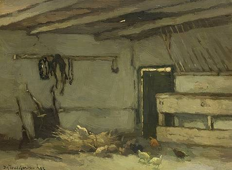Weissenbruch Johan Hendrik - Stalinterieur 1895