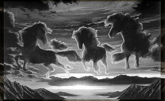 Stallions in the Clouds by Mario Carini