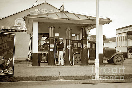 Standard Oil Co Gas Station, Salinas 1Circa 933 by California Views Mr Pat Hathaway Archives