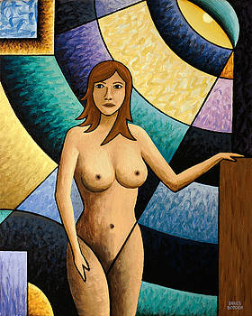 Standing Nude Abstract by Bruce Bodden