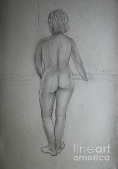 Algirdas Lukas - standing nude