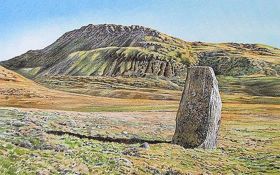 Standing stone at Cregennan by Alwyn Dempster Jones