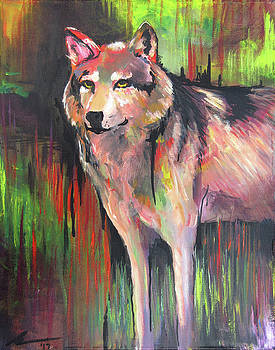 Standing Wolf by Melissa Peterson