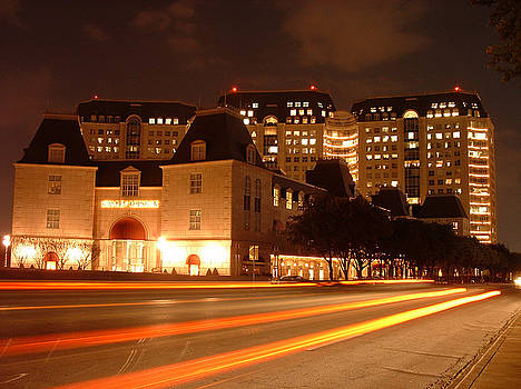 Stanley Korshak and the Crescent Hotel at night by Billie Jean Lamb