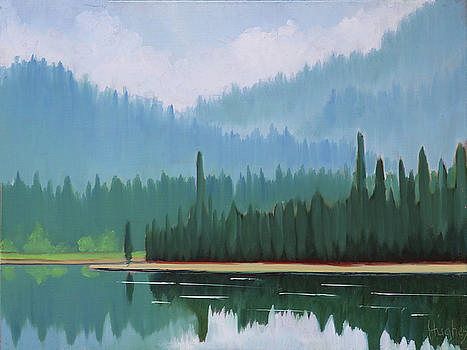Stanley Lake - Far Shore by Kevin Hughes