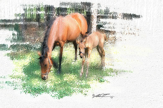 Star and Her Colt by Dale Turner