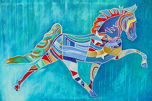 Star Horse In Blue by Gray