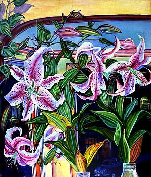 Star Lilies by Elizabeth Eve King
