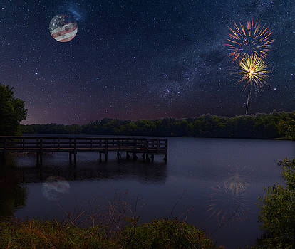 Star Spangled Lake by David Palmer