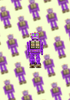 Star Strider Robot Purple Pattern by YoPedro
