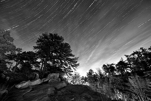 Star Trail on the Gunks by Michael Gallitelli