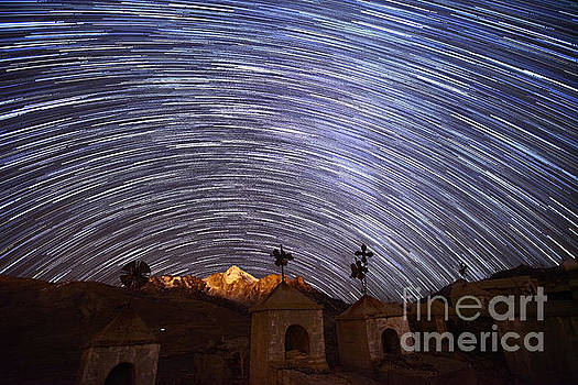 James Brunker - Star Trails Above Milluni Cemetery Bolivia