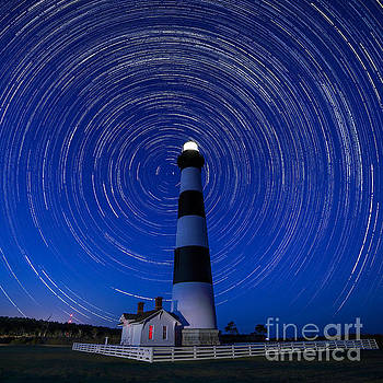 A Starry Night at Bodie Island Light House by Robert Loe