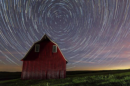 Star Trails At The Red Barn by Mark McDaniel