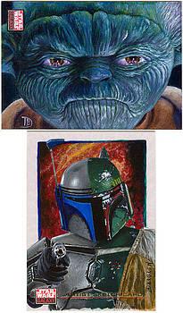 Star Wars Galaxy 4 Sketch Cards by Daniel Bergren