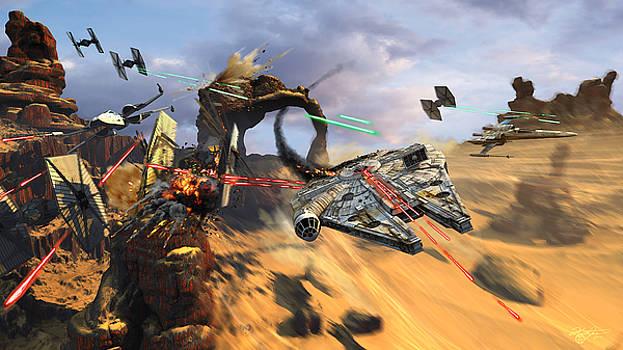 Star Wars Millennium Falcon by Kurt Miller