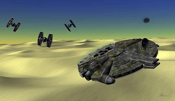 Star Wars Tatooine  by Michael Greenaway