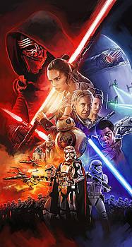 Star Wars The Force Awakens Artwork by Sheraz A