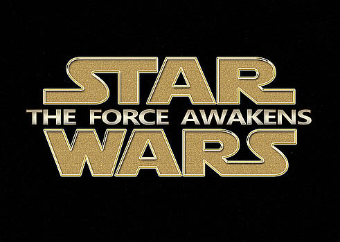 Star Wars The Force Awakens Carved Gold Typography digital art by Georgeta Blanaru