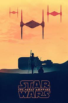 Star Wars The Force Awakens - Rey by Farhad Tamim
