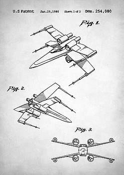 Star Wars X Wing Patent by Taylan Apukovska