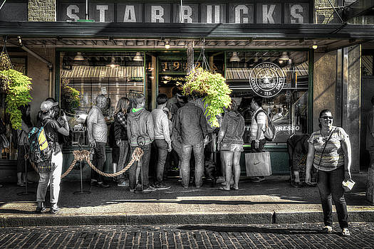 Starbucks at the Market by Spencer McDonald