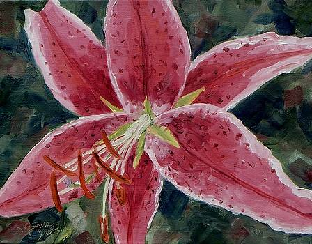 Stargazer lily by Monica Ironside