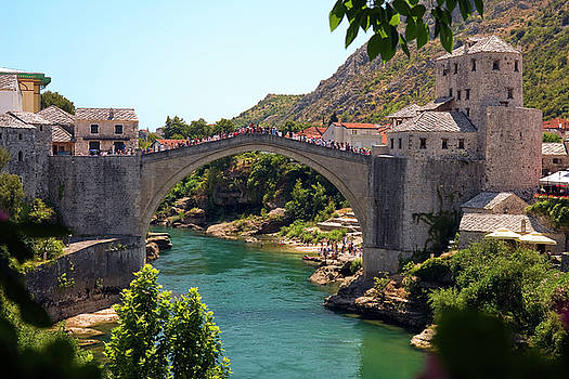 Stari Most Mostar by Sally Weigand