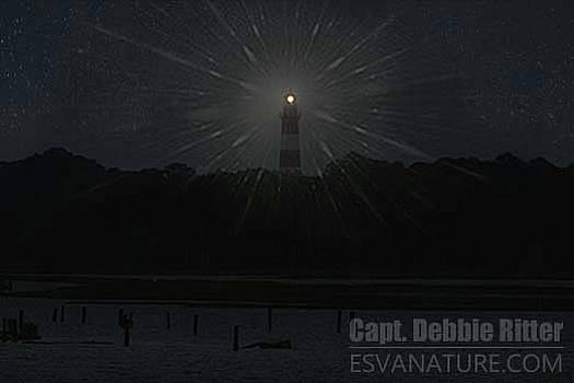 Starry Lighthouse 2 by Captain Debbie Ritter