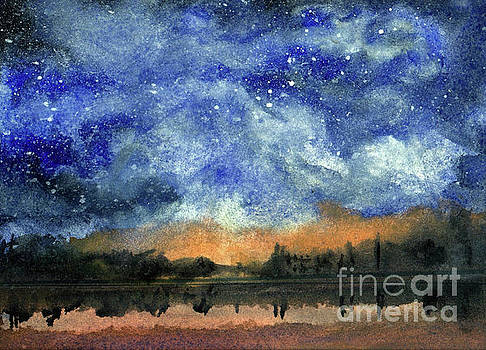 Starry Night Across Our Lake by Randy Sprout