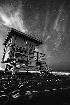 Starry Night at the beach by Art K
