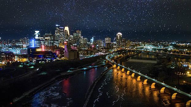 Starry Night in Minneapolis by Gian Lorenzo Ferretti