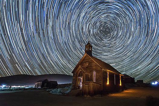 Starry Night over Bodie Church by Jeff Sullivan