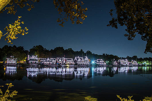 Starry Skies over Boathouse Row by Bill Cannon