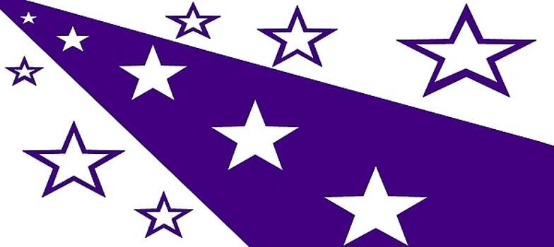 'Stars 21' or 'Purple Stars' by Linda Velasquez