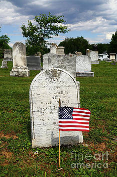 James Brunker - Stars and Stripes in Uniontown Cemetery Maryland