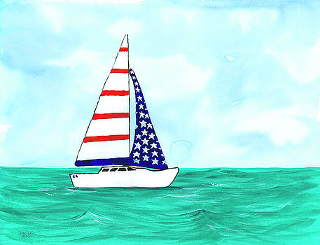 Darice Machel McGuire - Stars and Strips Sailboat