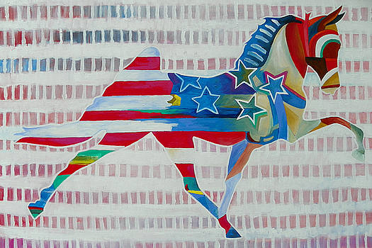 Stars Horse Abstract by Gray