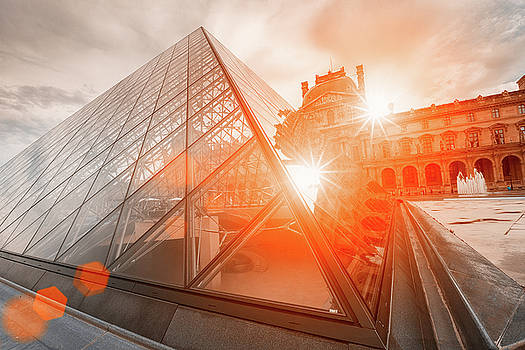Stars on the Louvre by Youshij Yousefzadeh