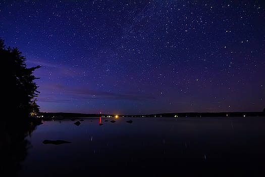 Stars over Branch Lake by Kirkodd Photography Of New England
