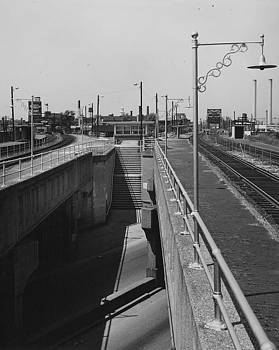 Chicago and North Western Historical Society - Clybourn Junction Station - 1959
